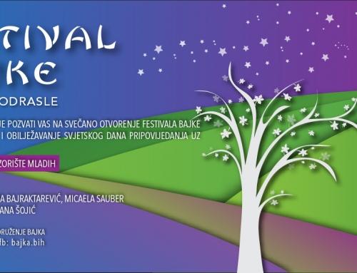 Pozivnica za svečano otvorenje festivala