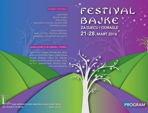 Najava – Program festivala bajke
